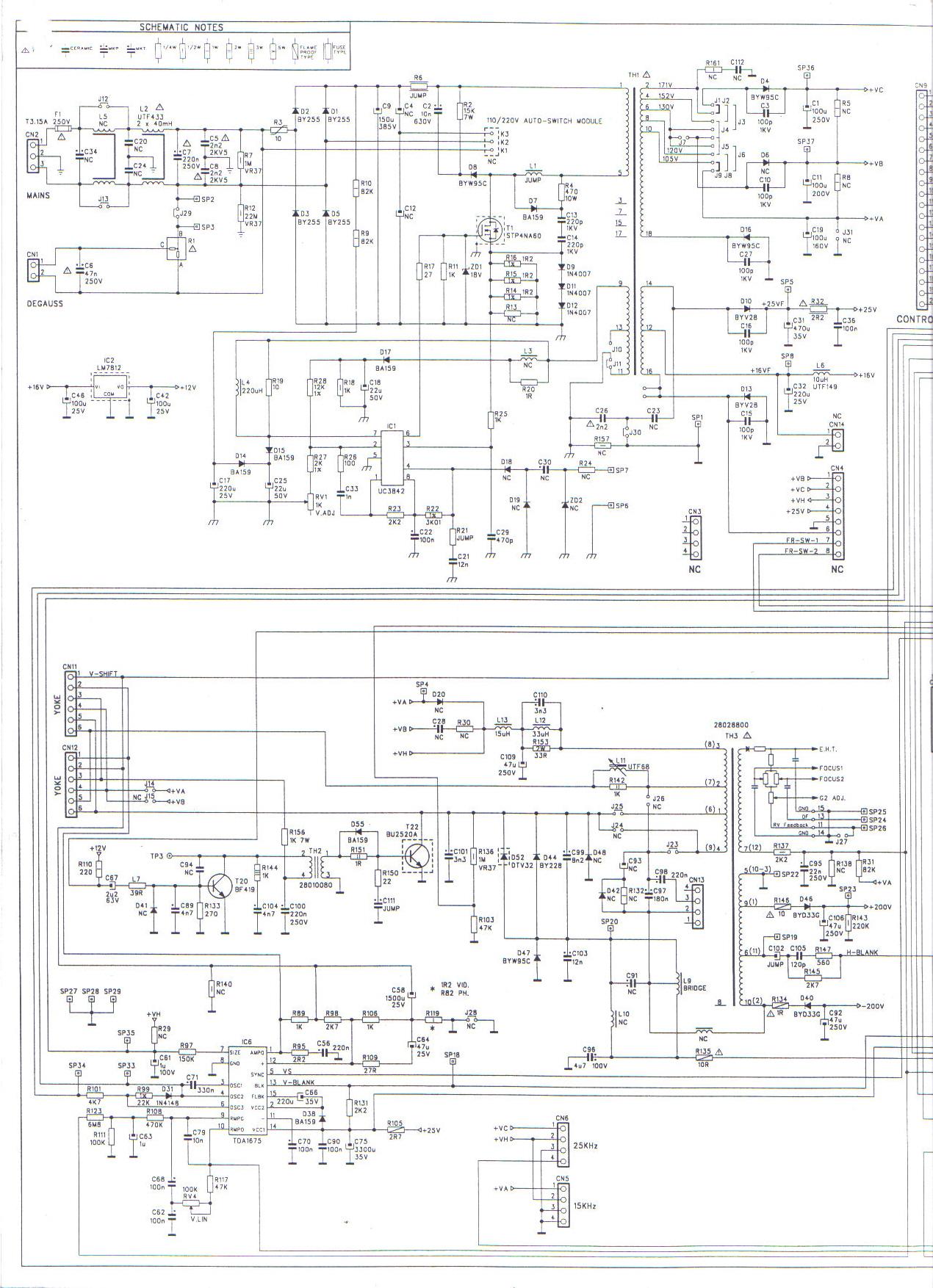 Schematic Diagram Hantarex F1428se Monitor