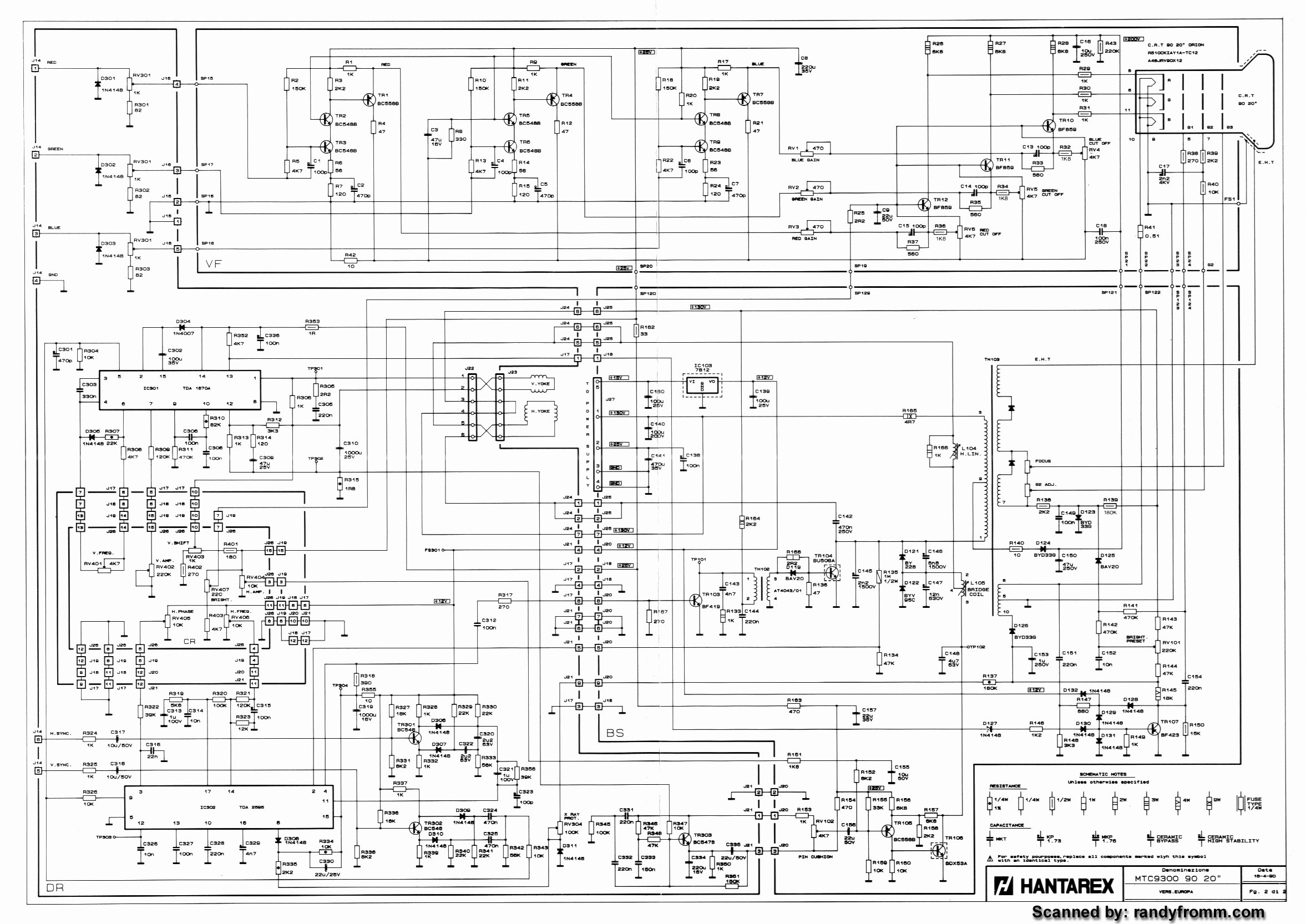 Slot-tech Com  Amusements  Monitor Schematic Diagrams