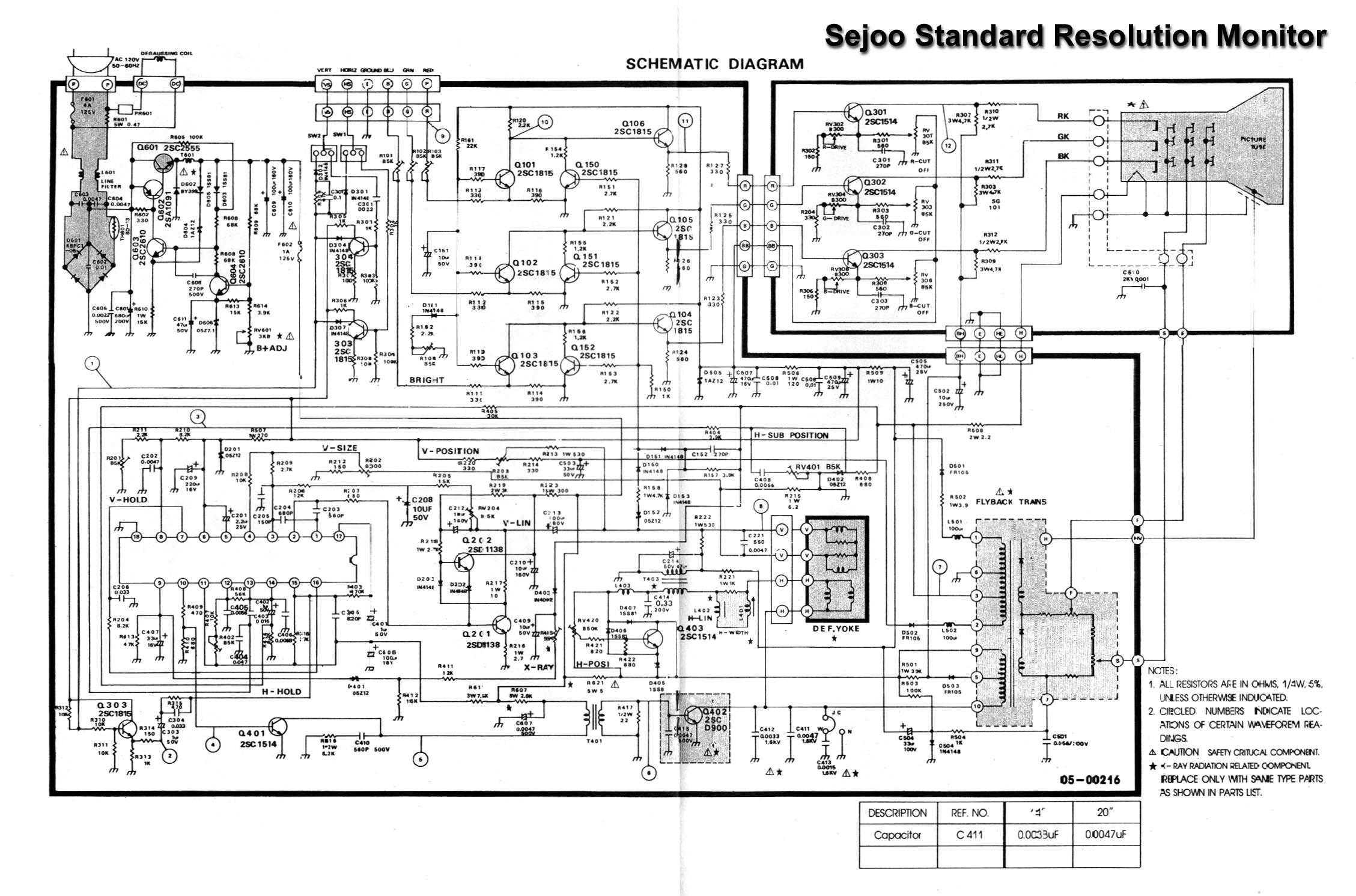 monochrome monitor schematics square monitor