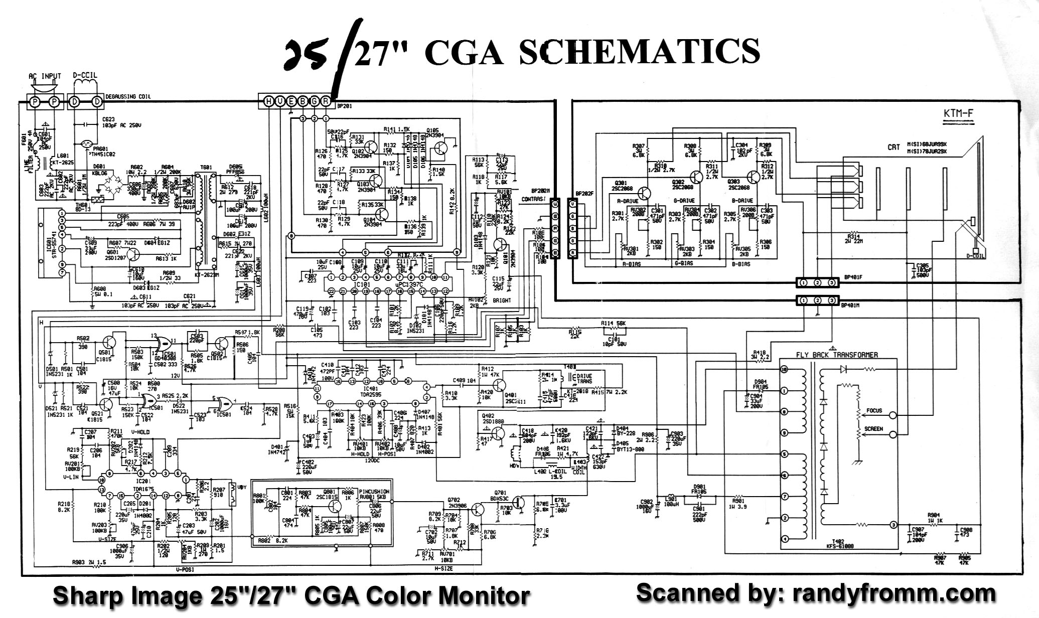 Sharp Crt Tv Schematic Diagram Diagrams Screen Image Monitor Schematics Block And U2022 Samsung